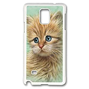 Kitten Portrait Polycarbonate Hard Case Cover for samsung note 4 White
