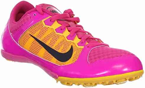 best sneakers 15c08 94540 NIKE WOMENS ZOOM RIVAL MD7 RASPBERRY PINK FOIL SPIKED TRACK SHOE US 9.5 M