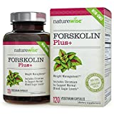 NatureWise Forskolin Plus for Weight Loss with Chromium for Healthy Blood Sugar Support, Coleus Forskohlii Supplement, 250 mg, 120 count