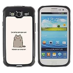Suave TPU GEL Carcasa Funda Silicona Blando Estuche Caso de protección (para) Samsung Galaxy S3 III I9300 / CECELL Phone case / / Adorable Cat Cartoon Character Motivational /