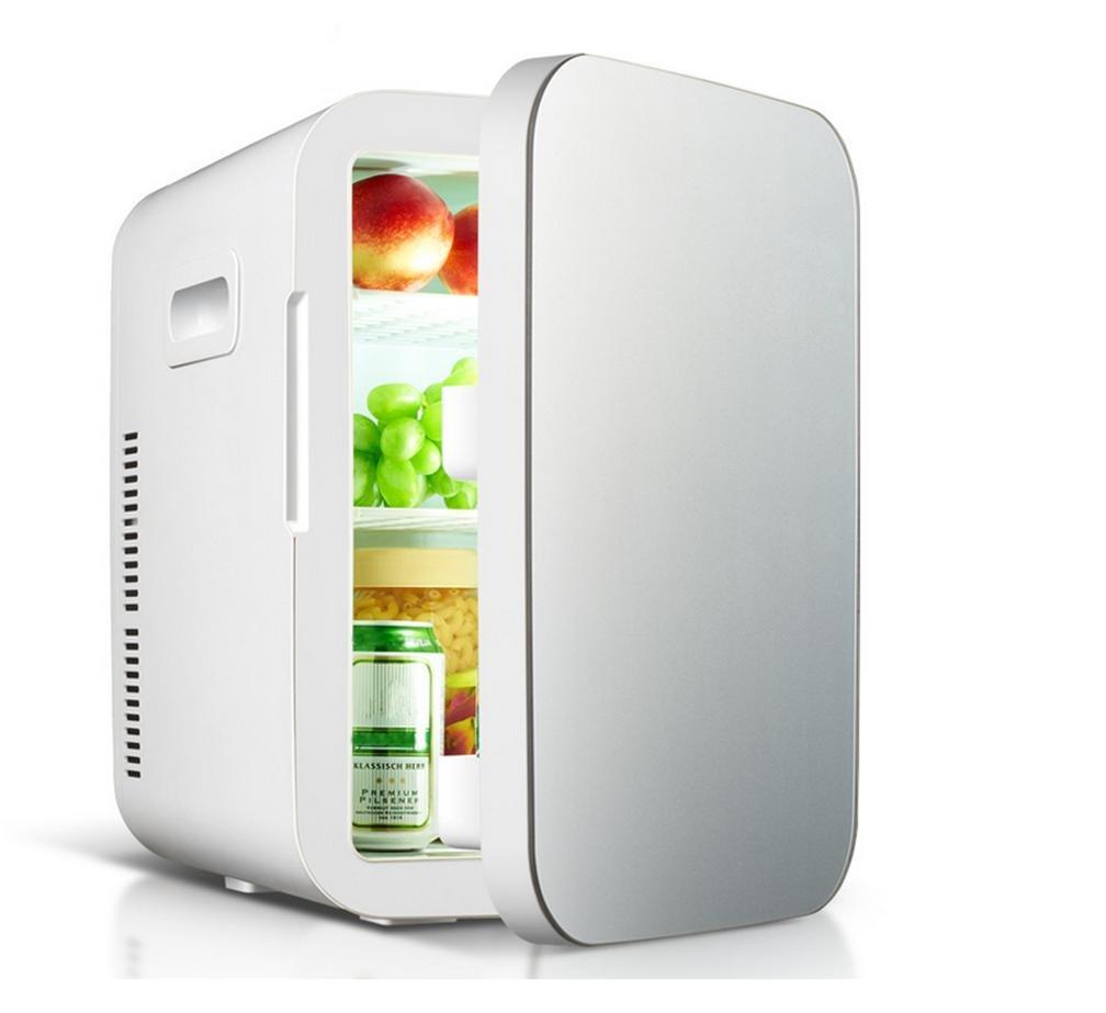 XM 20L dual-core frigorifero auto mini mini-frigo auto casa a duplice uso quarti di refrigerazione scatola calda e fredda , blue MM