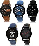 SVM Analogue Multi Dial Combo of 5 Men's Watch-LK-1-2-5-7-8
