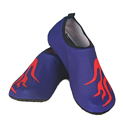 WeWee Zapatillas de Gimnasia Para Hombre Negro Schwarz Mit 3 blauen Streifen, Color Negro, Talla 38/39