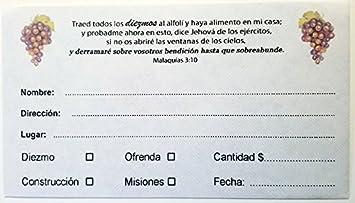 Sobre para Diezmo y Ofrenda (Caja 500 unidades. SUP)