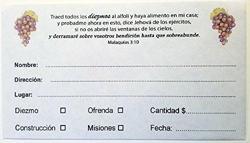 Amazon.com : Sobre para Diezmo y Ofrenda (Caja 500 unidades. SUP) : Office Products