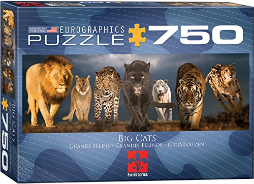 EuroGraphics Big Cats Jigsaw Puzzle 750 Piece Puzzle