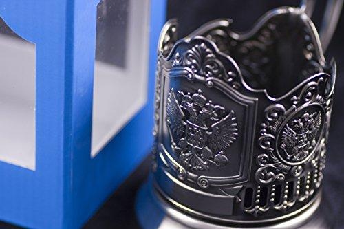 Russian Tea Glass Holder Podstakannik IMPERIAL EAGLE RUSS...