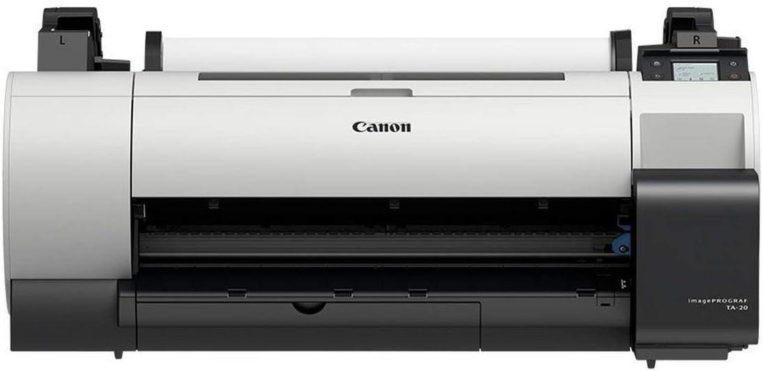 Canon imagePROGRAF TA-20 - Impresora de Gran Formato de 24 Pulgadas, Color de inyección de Tinta, Rollo A1 (61,0 cm), USB 2.0, Gigabit LAN, Wi-Fi(n): Amazon.es: Informática