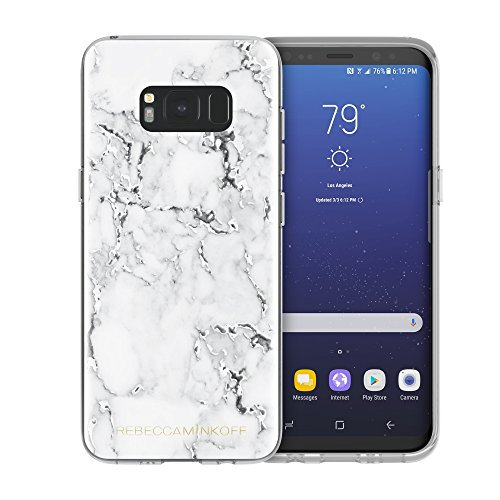 Rebecca Minkoff Sheer Protection Case for Samsung Galaxy S8 - Marble Print Clear/Black Foil (Protection Foil)