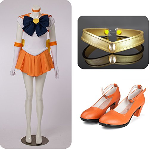 Sailor Moon Sailor Venus Aino Minako Costumes Set for Cosplay by Supers life