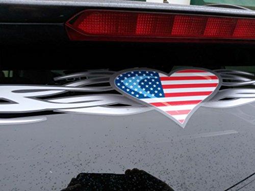Tribal Heart American Flag windshield window decal banner (Tribal Flag)
