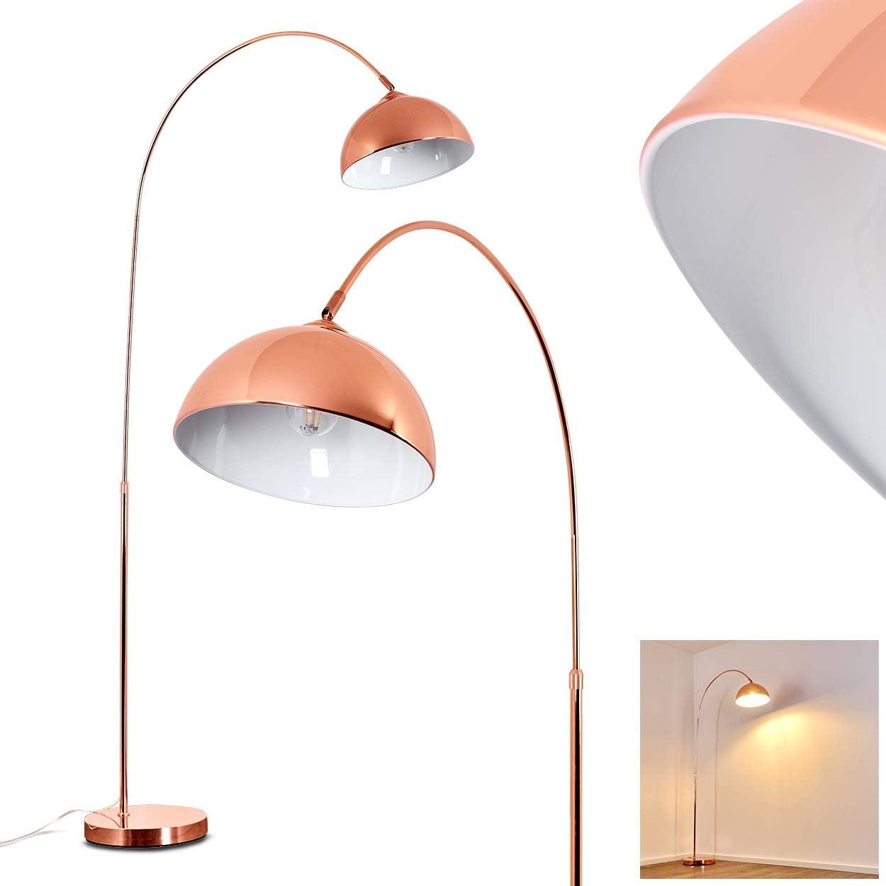 Stehlampe Tipitapa Moderne Stehleuchte Aus Metall In Kupfer Weiss
