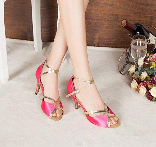 Miyoopark ,  Damen Tanzschuhe , rosa - Pink-8.5cm heel - Größe: 35