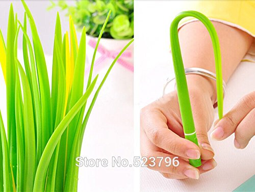 12pcs/lot Newest Gift idea Grass-blade pen pooleaf ballpoint