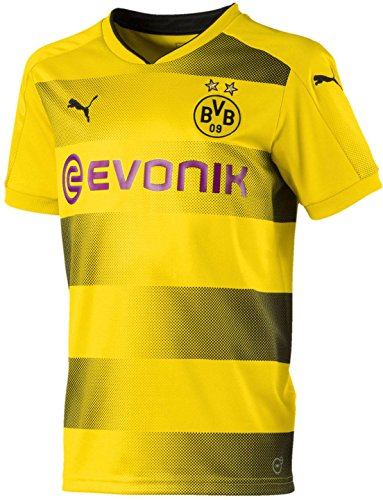PUMA Kids' Borussia Dortmund 2017/18 Home Soccer Jersey (Sz. Large) Yellow
