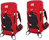 Cheap Alpinizmo High Peak USA Stratos 40 Internal Frame Hiking Pack (Set of 2), Red, One Size
