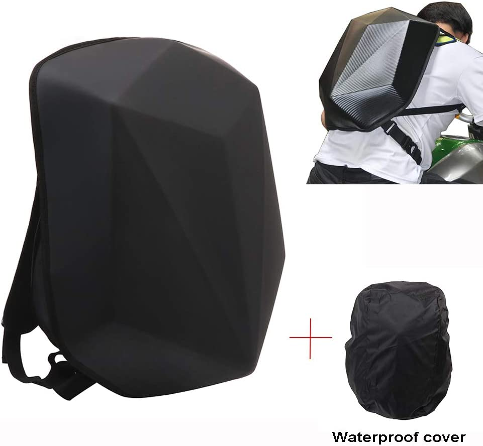 Motorcycle Backpack Hard Shell Carbon Fiber Waterproof 30L Large Capacity