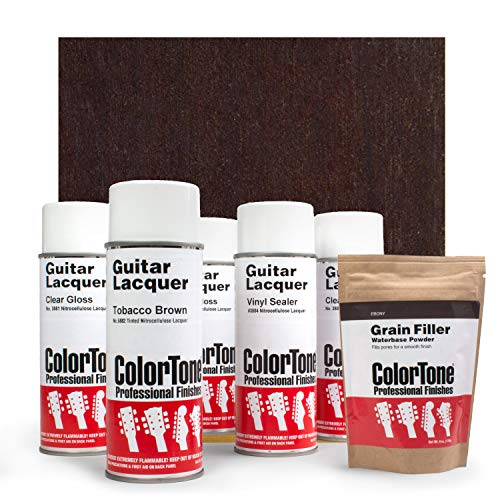ColorTone Aerosol Finishing Set with Tinted Lacquer, Tobacco Brown