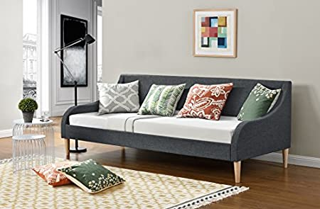 OWO Living Modern Multi Functional Chic Dream Guest Day Bed In Grey Fabric  Generously Padded