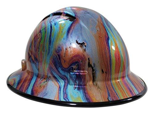 ca7be94717e HardHatGear Custom Hydro Dipped Vented Full Brim Hard Hat in  Oil Slick  -  Made