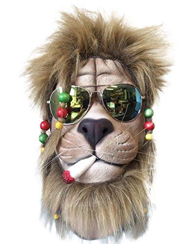 Jungle Man Costume Ideas (RASTA Mask , Latex & Hair , Overhead , Movie Quality , Zoo , Animal Costume)