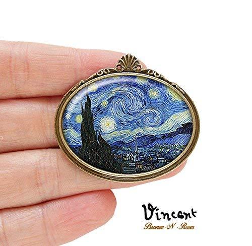 Van Gogh Porte-cl/és en m/étal Nuit /étoil/ée