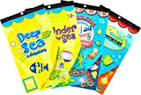 Darice Underwater Adventure Sticker Books for Kids - 4 books 1870 stickers