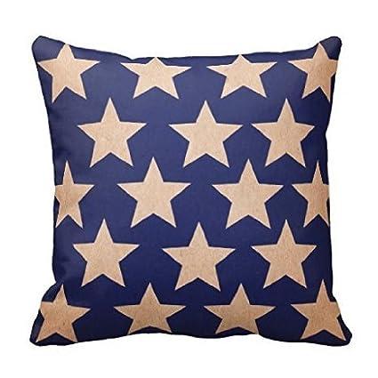 Amazon LCArtStore Americana Vintage Stars 40x40 Inch Cotton Gorgeous Americana Decorative Pillows
