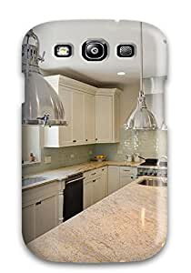 Ultra Slim Fit Hard ZippyDoritEduard Case Cover Specially Made For Galaxy S3- Kitchen With White Cabinets Amp Stainless Lights