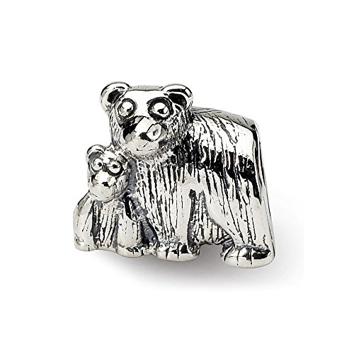 925 Sterling Silver Charm For Bracelet Mama Baby Bear Bead Animal Fine Jewelry Gifts For Women For Her