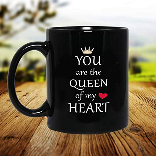 iKraft® Coffee Mug Gift for Her, You are The Queen of My Heart Printed Coffee Mug Gift for Wife, Sister, Mother, Friends