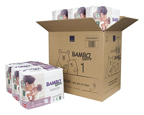 - Bambo Nature Eco Friendly Premium Baby Diapers for Sensitive Skin, Size 1 (4-11 lbs), 168 Count (6 Packs of 28)