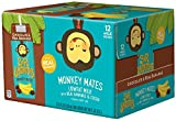 Sir Bananas Monkey Mates, Chocolate Bananamilk, 8 oz (6 ct), Low Fat Milk with Real Bananas and Cocoa in Individual, Single Serve Milk Box Cartons Ready to Drink, with 8 Grams of Protein