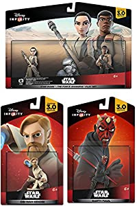 Star Wars: The Force Awakens Play Set: Finn, Rey 2-Pack Darth Maul & Obi-Wan Kenobi Character Figure combo 4-Pack All New Game