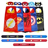 9-ecparty-5-different-superheros-cape-and-mask-costumes-set-includes-bonus-matching-wristbands-for-k