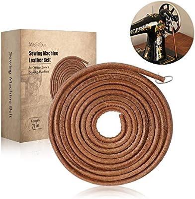 Correas de cuero de 71 pulgadas 3/16 pulgadas con gancho para máquina de coser Singer/Jones: Amazon.es: Oficina y ...
