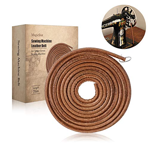 Big Save! Sewing Machine Belt, 71 3/16 Leather Belt Treadle Parts with Hook for Singer/Jones Sewin...