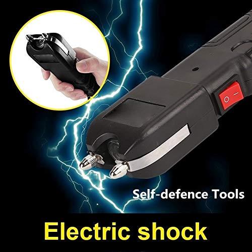iduino Heavy Duty Electric Shock Flashlight Police 928 High Voltage 420000V  Stun Gun Taser Flashlight Black Outdoor Security Self-Defense Stick