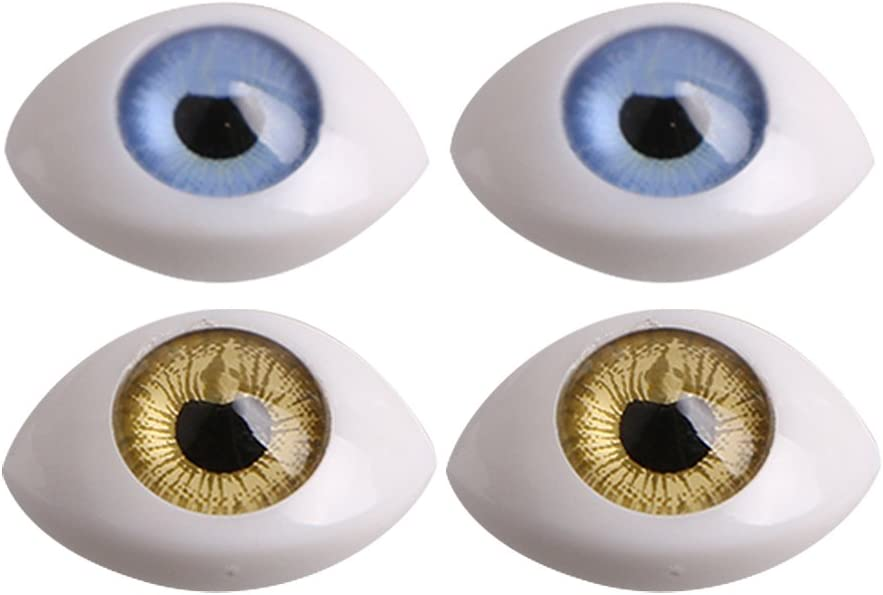 8PCS Plastic Oval Fake Eyes Eyeballs DIY Mask Doll Bear Toy Making 5mm Iris