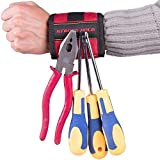 Tools & Hardware : SUPER STRONG Magnetic Wristband, Holds Small Metal Tools, Screws, Nails, Bolts Tightly While Working. Embedded with Super Powerful Magnets, Perfect Solution to Making Endless Trips to the Toolbox!