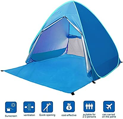 separation shoes 41865 01f13 BATTOP Automatic Pop up Beach Tent Sun Shelter Cabana 2-3 Person UV  Protection Beach Shade for Outdoor Activities