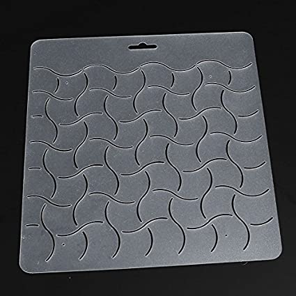 1pcs semi transparent quilting wave stencil plastic quilting template quilt tool for patchwork painting diy