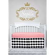 Sugar Q Black & White Pattern Pleated Crib Bed Skirt Dust Ruffle for Boy Girl Child Nursery Toddler Bedding with 40cm Drop (BCS011)