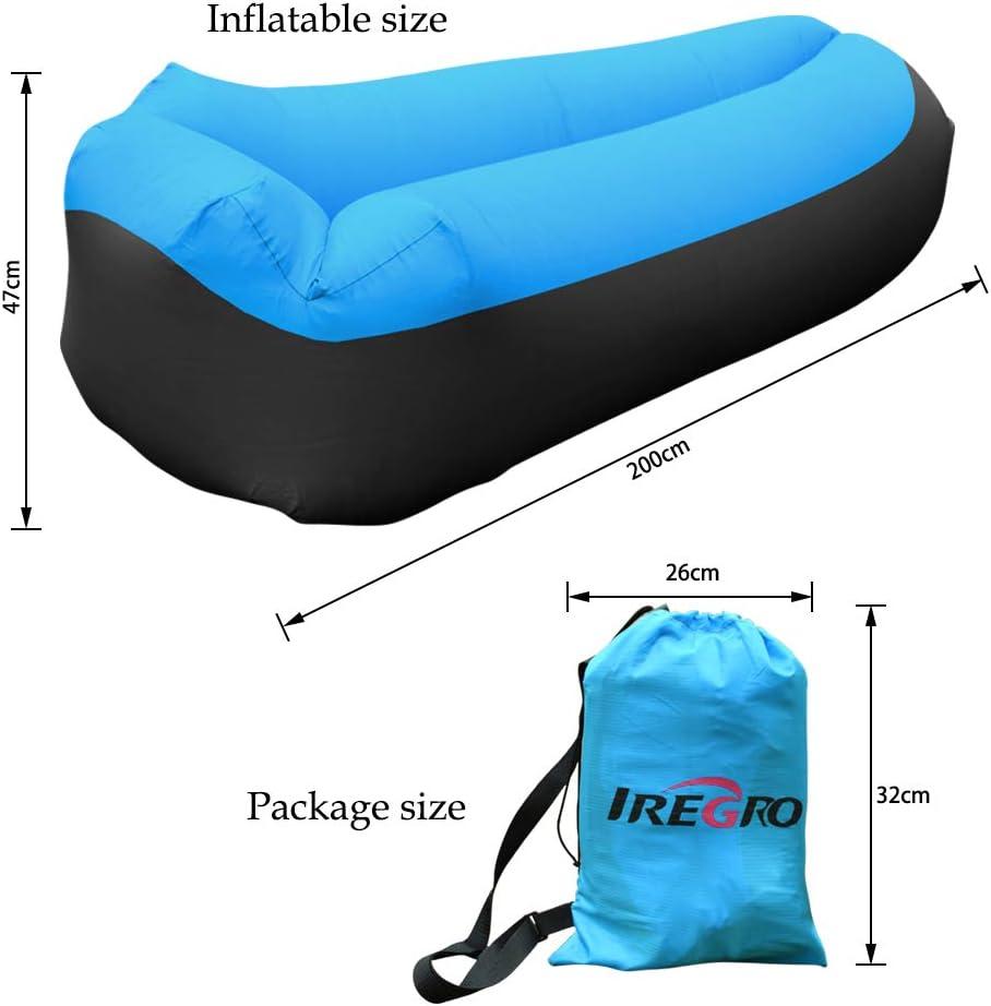 Amazon.com: iRegro Tumbona inflable, sofá de aire con ...