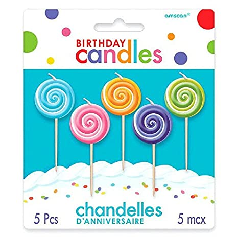 Amazon.com: Party Time moldeado Lollipops palillo de dientes ...