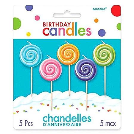 Amscan - Lollipop palillo de dientes juego de velas de ...