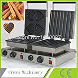 Double heads heart Best waffle maker & Electric automatic Spain churros machine for sale