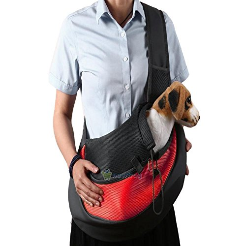 MIJORA-Small Pet Dog Cat Carrier Shoulder Sling Bag Oxford Mesh Tote Outside Travel Bag random - Canada Kors