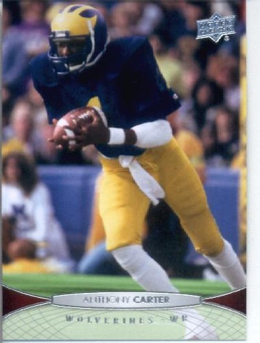 Anthony Carter Minnesota Vikings - 2012 Upper Deck Football Card #4 Anthony Carter - Michigan Wolverines (Minnesota Vikings)