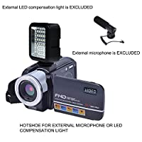 Camcorder Video Camera Full HD 1080p 24.0MP Digital Camera External Microphone Video Recorder Night Vision Webcam with Remote Control by COMI